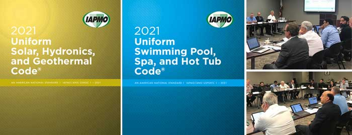 IAPMO Advances Development of 2021 Solar, Hydronics & Geothermal Code and Swimming Pool, Spa & Hot Tub Code During Technical Committee Meetings
